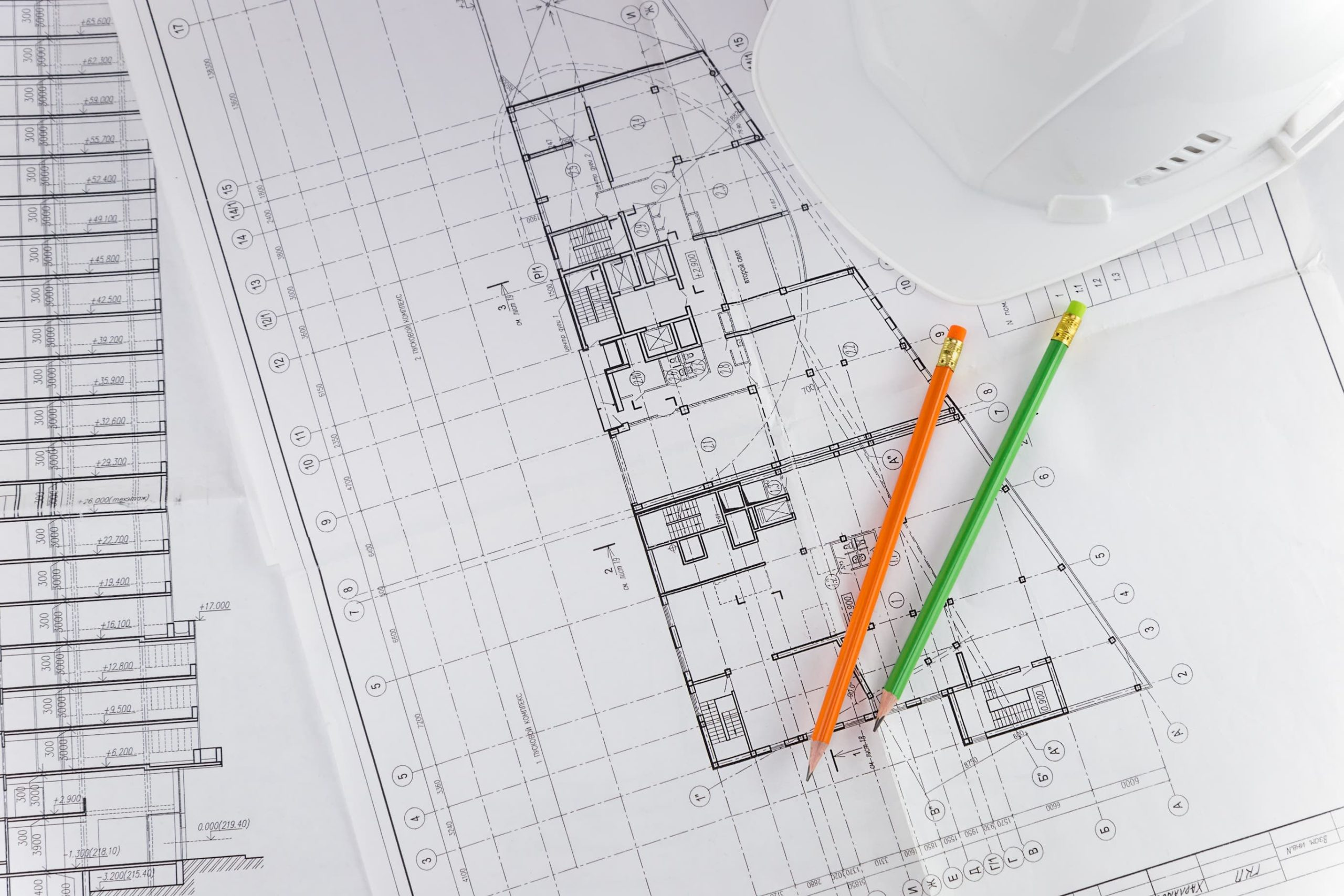 Plan de masse architecte batiment caswue chantier