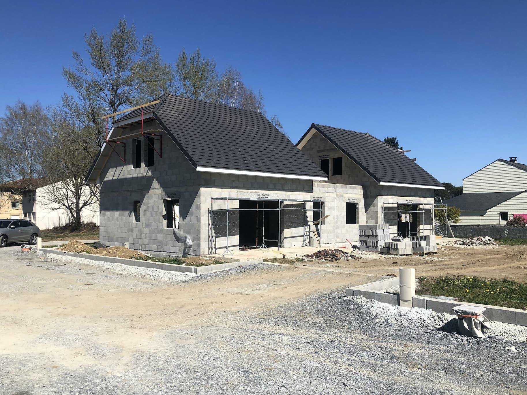 construction Maison Jumelées Nay